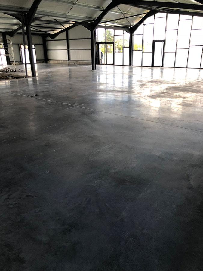 beton zone stockage
