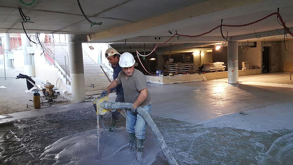 coulage beton bordeaux