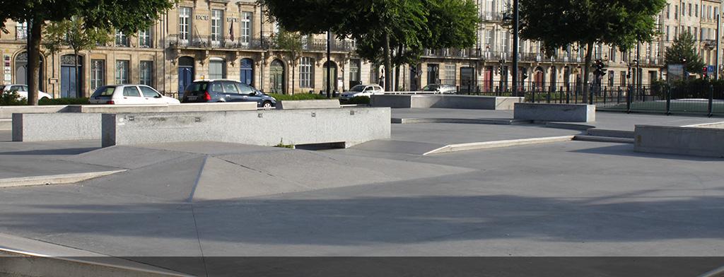 dalle beton skatepark bordeaux